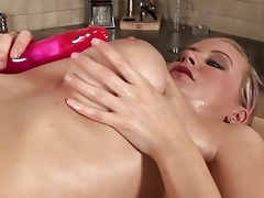 pigtailed youthful breasty alice fuck a sex toy