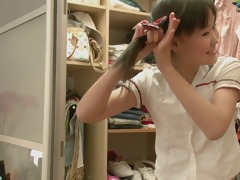 youthful oriental legal age teenager discovering