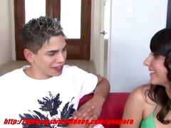 legal age teenager girl giving her boyfriend