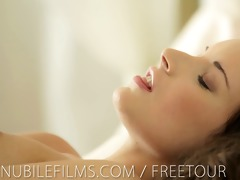 nubile films - 65 year old bawdy cleft cums so