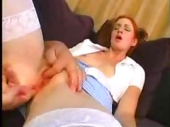 youthful redhead hotty screwed by aged fellow