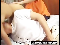 young daughter humiliated in her face hole and