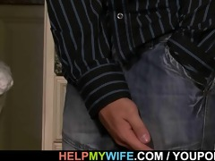 old hubby watches a boy bangs his juvenile wife