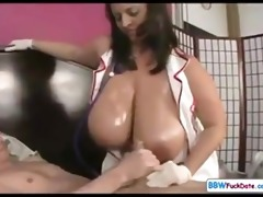 big beautiful woman nurse seducing younger chap