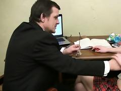 tricky teacher seducing pleasing student