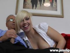 blond uk gal getting screwed by jim slide