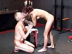 perverted redhead whore tortures old horny manj