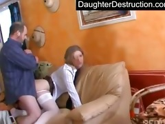 youthful legal age teenager hatefucked hard by dad