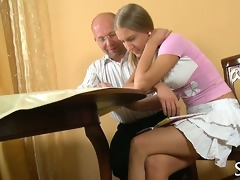 old teacher satisfied by legal age teenager