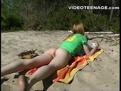 12 years old legal age teenager nudist at beach