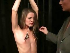 prison guard punishing youthful inmate