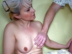 oldnanny old slender woman masturbating with