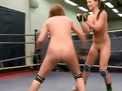 hot youthful cuties wrestling