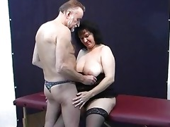 old dilettante pair home act with cum on mambos