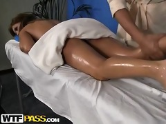 erotic massage for undressed young beauty