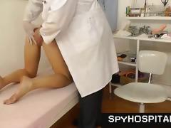 a vagina check-up on hidden webcam