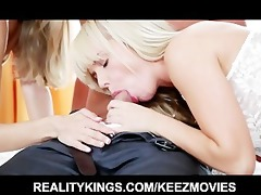 glamorous youthful wife surprises her stud with a