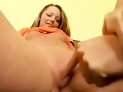 excited blonde drilled hardcore