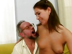 granddad enjoying naughty sex with hot legal age
