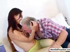 old dude seducing youthful gal
