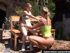 nubiles kate and tanya toy vaginas outdoors