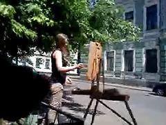 a youthful artist