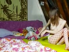 06 years old thin hotty teasing