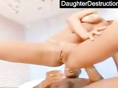daughter face hole and vagina screwed hard