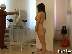 old md and a curvy legal age teenager angel