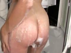 ember enjoying herself in the sex shower