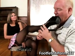 old lad having a footfetish