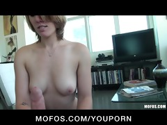 sexy blond girlfriend sierra day undresses down