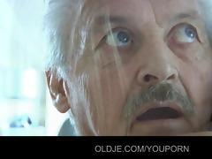grandad gustavo screwed by his stupid maid