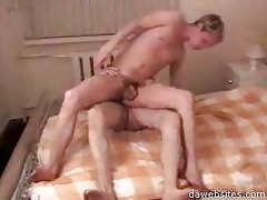 hot fellow jumping on old mans meat