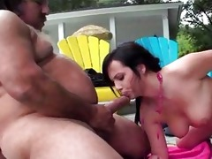 cute babe receives old fellow dick