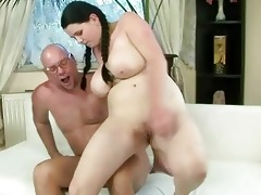 favourable old man fucking with breasty legal age