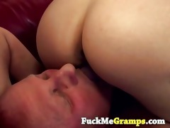 blond tiffany drilled old old man